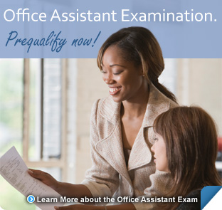 Office Assistant examination information for candidates.